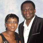 Nikki with Noel Robinson Praise and worship leader